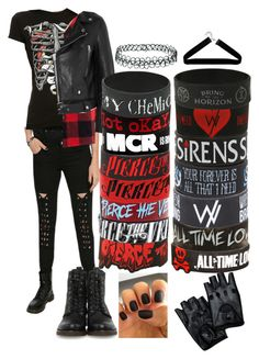"""Pierce The Veil Outfit"" by phanisnotonfire6 on Polyvore featuring Tripp, Glamour Kills, Acne Studios, Frye, Topshop, Boohoo, women's clothing, women, female and woman"
