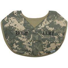 Army Digital Camouflage Baby Bib