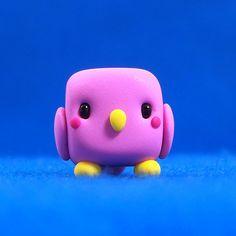 Kawaii Bird Cube by Jenn and Tony Bot, via Flickr