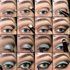 Smokey, smouldering tones make up this glitter cut crease eye tutorial. Master it yourself with an awesome pictorial and how-to.