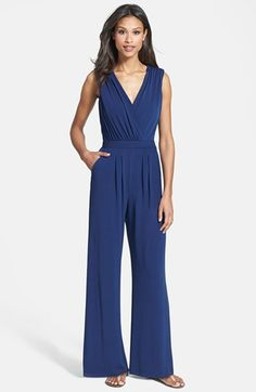 Vince Camuto Faux Wrap Jersey Jumpsuit available at #Nordstrom