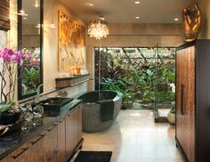 18 Tropical Bathroom Design Photos