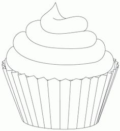 Pretty Cupcake Coloring Page Free Printable Coloring Pages