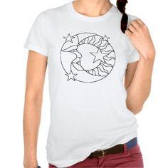 Sun Moon and Stars Pattern Paintable T-Shirt