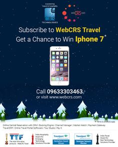 Subscribe to WebCRS Travel and get a chance to win Iphone 7