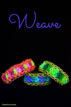 How to Make the Rainbow Loom Weave Bracelet #rainbowloom