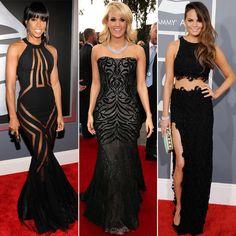 red carpet dresses   Grammy 2013 Red-Carpet Black Dresses