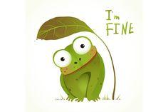 Cartoon Baby Frog Childish Animal - Illustrations - 1