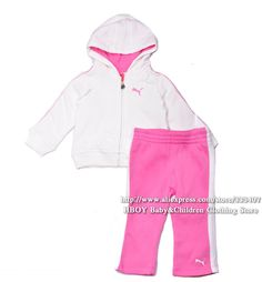 Free shipping 2013 NEW Sport Brand 2pcs/set Baby Girls Clothing sets Jacket Coats with cap Pant Pink Bigsize Autumn Winter $16.90 - 17.50