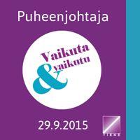Vaikuta ja vaikutu 2015 -seminaarin puheenjohtaja Tech Companies, Company Logo, Logos, Badges, Logo, Badge