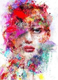 Buy femme fatale, a Acrylic on Canvas by yossi kotler from Israel. It portrays: Body, relevant to: beauty, digital art, mix media art, yossi kotler art, face what comes out it's the creative expression of a mutative forces