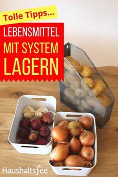 Kartoffeln und Zwiebeln lagern mit System. #schublade #organisieren #organisation #system #haushaltsfee #haushalt Diy Kitchen, Sweet Home, Food, Lifestyle, Store, Storing Onions, Storing Fruit, Larder Storage, Butler Pantry