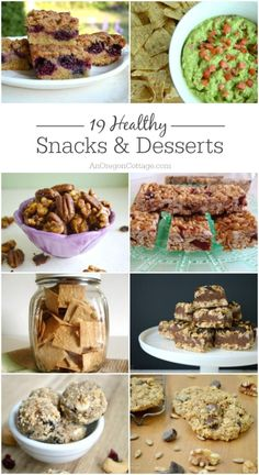 Don't think snacks and desserts can be healthy and yummy? These 19 recipes will prove you wrong!