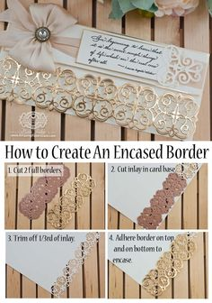 How to Make An Encased Border 2019 Card Making Techniques by Becca Feeken How to Make an Encased Border www.amazingpaperg The post How to Make An Encased Border 2019 appeared first on Scrapbook Diy. Card Making Tips, Card Making Tutorials, Card Making Techniques, Making Ideas, Embossing Techniques, Becca Feeken Cards, Spellbinders Cards, Diy Cards, Paper Cutting