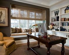 Traditional Home Office Design, Pictures, Remodel, Decor And Ideas   Page  24 | Office | Pinterest | Blue Grey, Gray And Walls