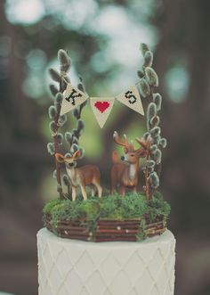 Not usually into inedible things on cakes but this is pretty cute