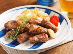 イベリコ豚のハーブ焼き、キャベツの酢漬け添え|魚料理と簡単レシピ