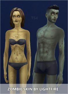 Zombie Skin at Lightfire Simblr via Sims 4 Updates