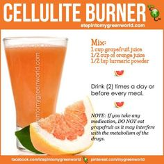 My Diet/Detox/Cleanse/Fat-loss/Weight-Loss/Metabolism/Cellulite photo-album ? I just added a new recipe Cellulite Burner YOU asked me for recipes for Grapefruit . What do YOU think of this recipe? (Sorry EVERYONE not sure why todays posts arent post Healthy Detox, Healthy Juices, Healthy Smoothies, Healthy Drinks, Healthy Tips, Vegan Detox, Healthy Habits, Healthy Weight, Healthy Food