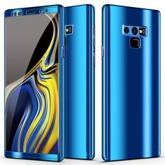 TOPBIN Case for Galaxy Note 360 Degree Full Body Protection with Built-in Screen Protector 3 in 1 Plating Mirror Case Anti-Scratch for Samsung Galaxy Note 9 Inch (Blue) Galaxy Note 9, Samsung Galaxy Note 8, Galaxy S8, Galaxy Phone, Sierra Leone, Montenegro, Seychelles, Belize, Uganda