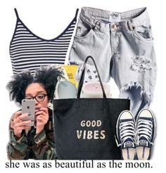 """""""The MOON"""" by niyah682 ❤ liked on Polyvore featuring Topshop, Christian Dior, Converse and Venus"""