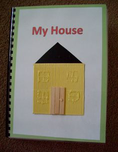 To prepare your child who is blind or visually impaired for using maps, help him or her make a tactile book comprised of a map of each room of your home. (Image: Tactile Book (My House)) Visually Impaired Activities, Tactile Activities, Gross Motor Activities, Braille, Sensory Book, Autism Classroom, Classroom Ideas, School Items, Busy Book