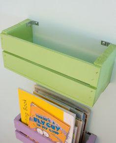 Extraordinareality: Cute (and cheap!) DIY bookshelves