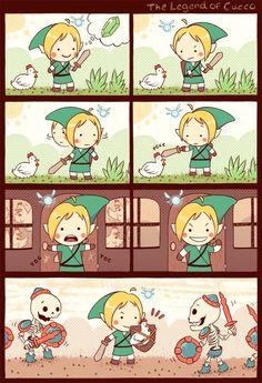 Ultimate chicken defense, GO! #Truth #lols #video #game #Funny #Videogame #Gaming #References #Reality #Real #Life #Joke. #Geek #humor #Funny #Link #Zelda #Legend #Chicken #Nintendo