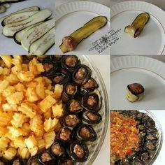 Olivos Kebabı seneler önce yemek yapmaya başladığım zamanlar yaptığım ilk yemeklerden.. Yapılış aşamaları bu şekilde.. ~OLİVOS KEBABI~ Malzemeler: 6 adet patlıcan 3 adet patates Köftesi için: 300 gr kıyma ( siz isteğinize göre ayarlayın ) 1 adet soğan Pulbiber Karabiber Tuz Üzeri için: 1 yemek kaşığı tereyağı Biraz sıvıyağı 4 adet domates 1 adet kuru soğan 3 diş sarımsak 1 tatlı kaşığı salça Maydanoz Pulbiber Tuz