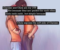 Yeah Chris really does. I SHIP CHRISSE!!!! They just arent my ONE true pair