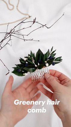Greenery Day, Wedding Accessories, Hair Accessories, Diy Wedding, Wedding Ideas, Handmade Flowers, Hair Piece, Hair Comb, Headpiece