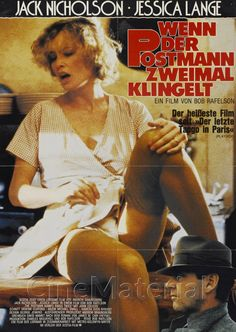 High resolution German movie poster image for The Postman Always Rings Twice Cinema Posters, Film Posters, Horror Posters, Jack Nicholson, Old Movies, Vintage Movies, Playboy, Celebrities In Stockings, Lady Gaga Pictures
