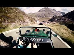 Caterham 485 on Sustenpass //pure roads (Porsche Turbo, Cayman S and Nissan GT-R 2015) - YouTube