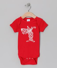 Look at this Little Treetops Red Circus Clown Bodysuit - Infant on #zulily today!