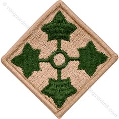 Army Patch: Fourth Infantry Division - color