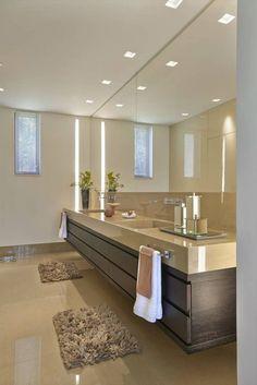 Fotos de Banheiros Moderno: Lavabo, Casa Amendoeiras.
