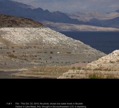 Severe water drop in Lake Mead, Arizona