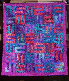 PURPLE MAZE      -Kaffe Fassett Collective Designs in Purple, Blue, Magenta and every color in-between combined in this gorgeous quilt via Etsy