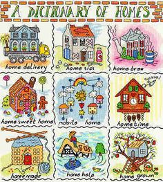 A Dictionary of Homes - Bothy Threads cross stitch kit