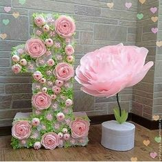 Pin by Eleanor Johnson on paper flowers & tutorials Giant Paper Flowers, Paper Roses, Diy Flowers, Flower Decorations, Wedding Decorations, Birthday Room Decorations, Nylon Flowers, Paper Flower Backdrop, Paper Flower Tutorial
