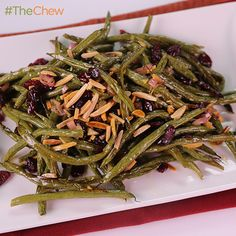 Roasted Green Beans with Warm Vinaigrette