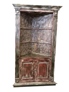 Antique arch Bookshelf, wooden Rustic Bookcase Indian handcarved Furniture Your Home Decor Idea. Rustic Bookcase, Vintage Bookcase, Wood Bookshelves, Vintage Sideboard, Bookcase Storage, Sideboard Cabinet, Antique Armoire, Antique Doors, Traditional Bookcases