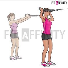 Face pulls - Muscles worked: Shoulders, Back  Facing a high pulley with a rope or dual handles attached, pull the weight directly towards your face, separating your hands as you do so. Keep your upper arms parallel to the ground. - Click the link in the profile to order supplement and workouts plans 60-70% off  @fitaffinity Worldwide Shipping