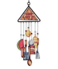 Loving this 'Come & Get It!' Wind Chime on #zulily! #zulilyfinds