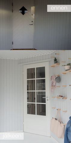 MUUTOSKOHDE: LASIKUISTI ENNEN JA JÄLKEEN: oblik. Garage Doors, Outdoor Decor, Home Decor, Decoration Home, Room Decor, Carriage Doors, Interior Decorating
