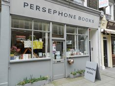Persephone Book store on Lamb Conduit street in England. One of my favorite book stores. Small and personable. The kind of bookstores I grew up in :)))))