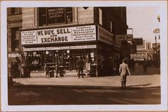 1919 Broadway, at the N.W. corner of West 64th Street. Also seen is 64th Street, north side, east from Broadway to Columbus Ave. April 30, 1934. P. L. Sperr.
