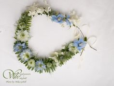 flower girl garland- love-in-a-mist