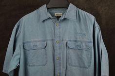 Magellan Sportswear Mens 3XL XXXL Blue cotton SS Outdoors shirt Adventure Hiking #MagellanSportswear #ButtonFront