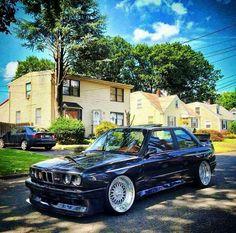 BMW E30 M3 black deep dish